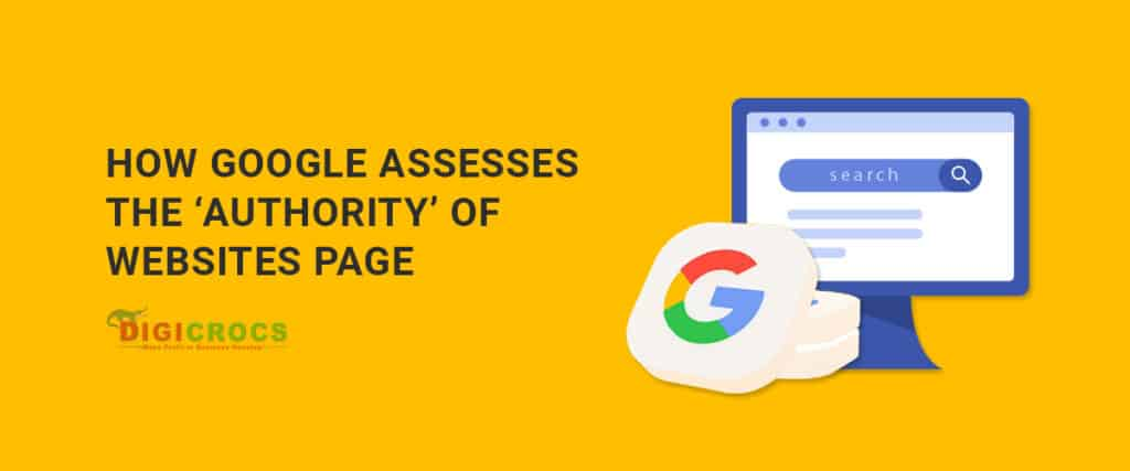 How Google assesses authority if websites pages